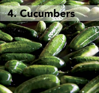 4. cucumbers