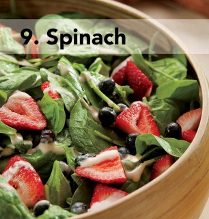9. spinach