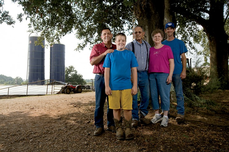 Arkansas dairy farmer Richard Helms
