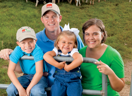 Will & Joni Gilmer anf their children Jillian and Linton on their Dairy in Sulligent, AL