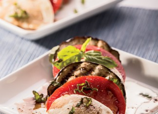 Grilled Eggplant Caprese Salad Recipe