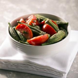 Warm Okra and Tomato Salad