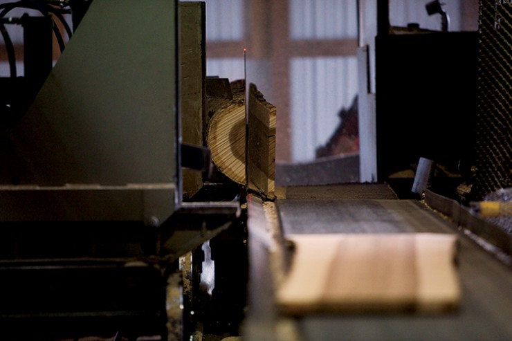 Promark saw mill in Prospect, TN.