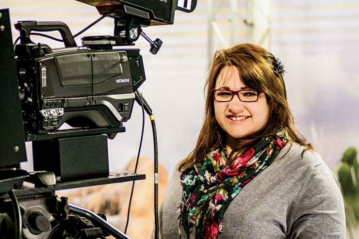 Alyssa Dye, of Alliance, Neb., works at the University of Nebraska – Lincoln's Educational Media office, where she promotes the agriculture industry through video and radio production.