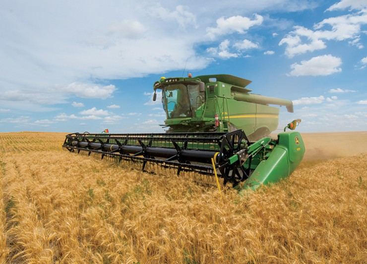 Wheat harvest in Western Nebraska.