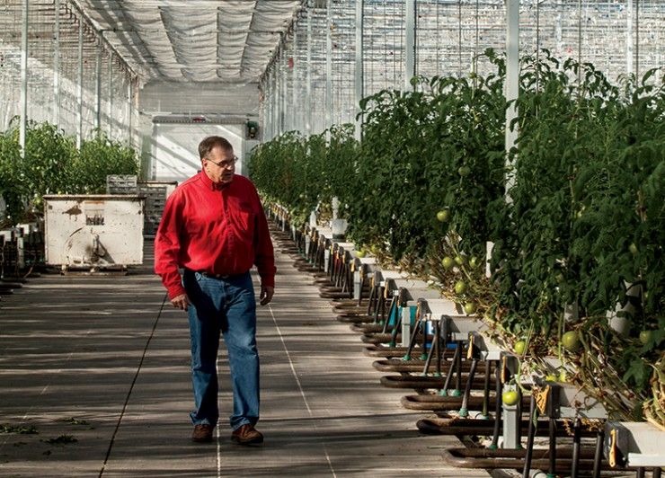 Marv Frtiz at Garden Fresh Vegetables facilities, Nebraska