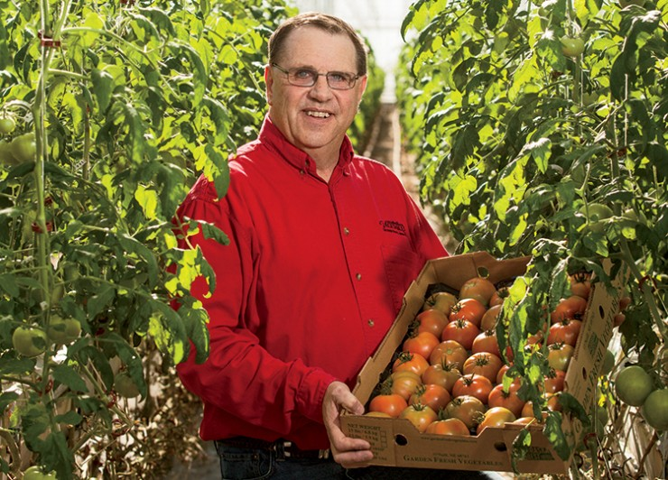 Marv Fritz, Garden Fresh Vegetables, Nebraska