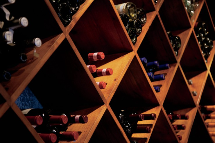 A portion of the wine selection from Cucina Gemelli in Twins Falls, ID.