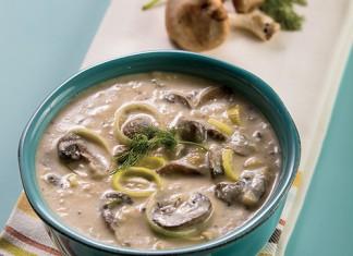 Triple Mushroom and Leek Soup