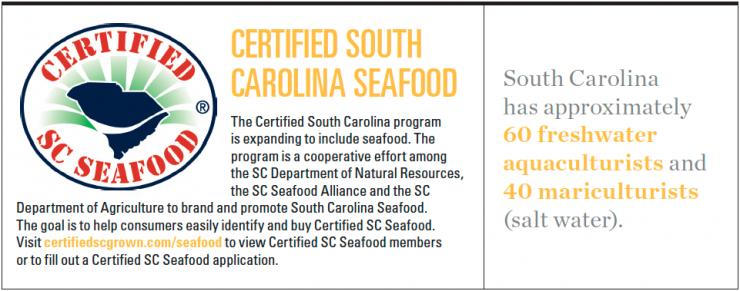 South Carolina Certified Seafood Infographic