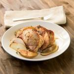 Feta Stuffed Pork Chops with Pears