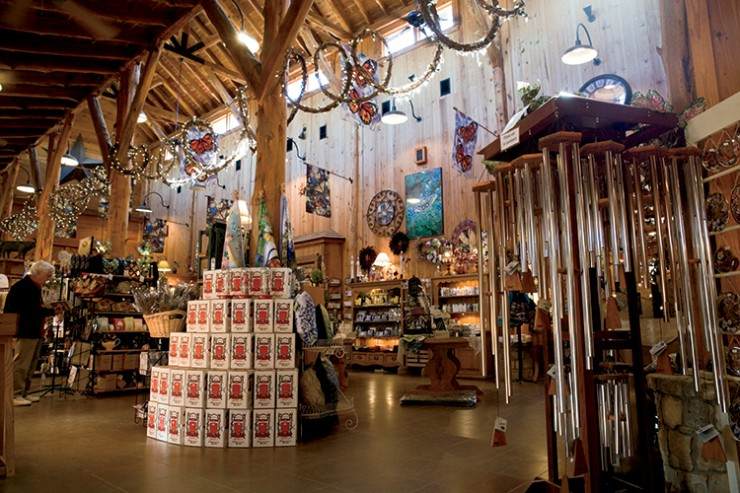 Visitors browse the gift shop at Wildseed Farms in Fredericksburg.