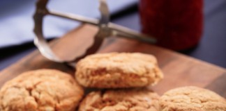 Sweet Potato Biscuits with Ham and Pepper Jelly