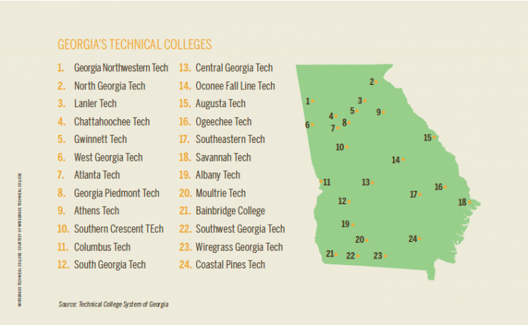 Georgia's Technical Colleges [INFOGRAPHIC]
