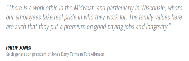 Wisconsin dairy pullquote