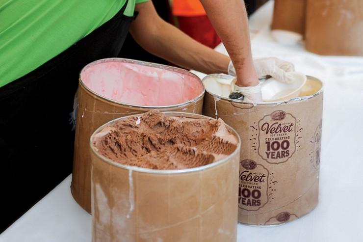 Ohio State Fair Velvet Ice Cream celebration