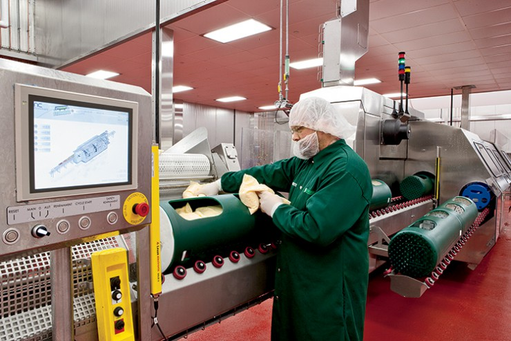 A High-Pressure Processing machine at Sandridge Foods allows fresh products to have a longer shelf life without adding preservatives.
