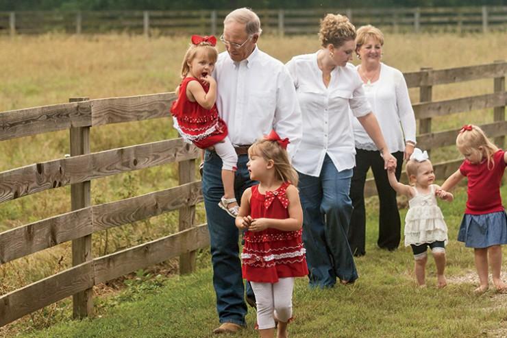 Mississippi farm family