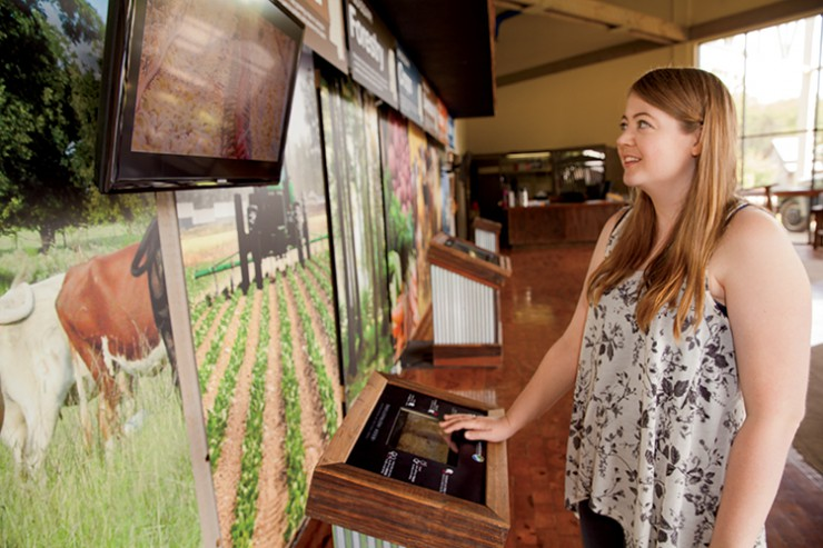 Interactive iPad exhibit at the Mississippi Agriculture & Museum.