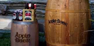 Apple Beer, product display.